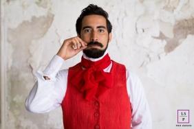 Rio de Janeiro Brazil Lifestyle Portraits - Photo contains: man, red jacket, mustache, red scraf