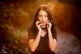 Rio de Janeiro Brazil Lifestyle Teen Portraits - Photo contains: female, senior, outside, sunlight, sunset, gold