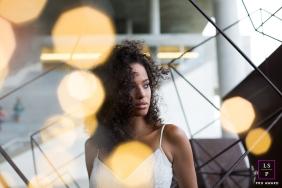 Lifestyle Teen Portrait Session in Rio de Janeiro Brazil | Photo contains: geometric shapes, bokeh, female, portrait