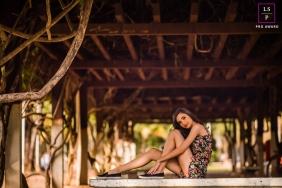 Minas Gerais Brazil Teen Photography - Lifestyle Portrait contains: session, solo, senior, vines, posing, girl, color, brown