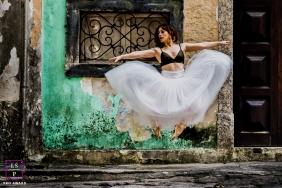 Female Photography for Rio de Janeiro Brazil - Lifestyle Portrait contains: woman, outdoors, home, leap, dance, ballet, urban