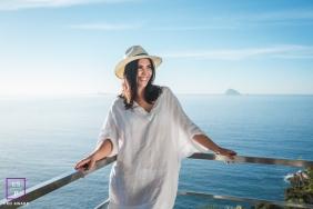 Rio de Janeiro Brazil Female Portrait Session in Rio de Janeiro Brazil | Lifestyle Photography contains: woman, hat, lanai, water, sky