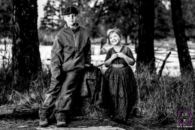 Sibling Portraits in Coeur d'Alene Idaho | Lifestyle Photography Session contains: girl, boy, black, white, outside