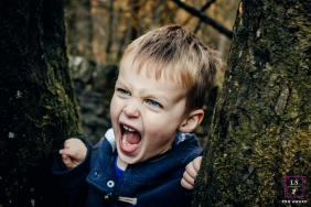 West Yorkshire Lifestyle Portrait Photography England | Image contains: boy, trees, forest, nature, close-up