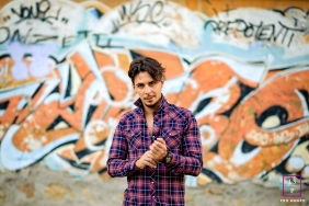 Latina Lifestyle Portrait Photography Lazio | Image contains: male, posing, wall, graffiti