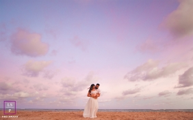 Paulista Pernambuco Beach Maternity Lifestyle Portraits - Photo contains: sky, clouds, couple, pregnancy, shore