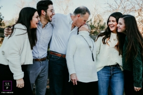 Nashville	Family Group Lifestyle Portrait Session | Photo contains: Tennessee, sibling, father, mother, kiss, creative, teens, photo shoot