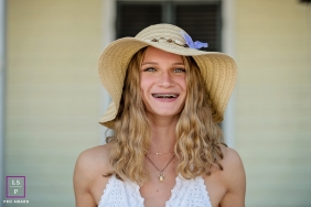 Key West Teen / Senior Lifestyle Portrait Session | Photo contains: Florida, fine art, girl, close-up, outdoors, house, hat, hair, color