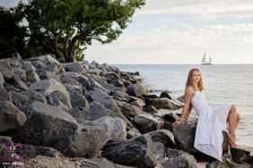 Key West Teen Lifestyle Portraits - Photo contains: rocks, beach, senior, portrait, color, shot, posing, tree, ideas
