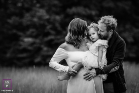Bourgogne-Franche-Comte Family and Maternity Portraits - Photo contains: father, mother, family, girl, black, white, grass, trees