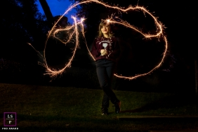 Lisbon Lifestyle Teen and Senior Portraits - Photo contains: Portugal, night, senior, girl, slow shutter, outdoors, color
