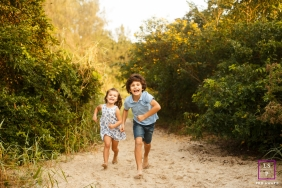 Florianopolis Lifestyle Kids Portrait | Photo contains: Santa Catarina, color, bush, children, girl, boy, outdoors, sand