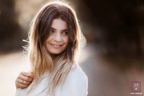 Ain Lifestyle Teen Photography | Image contains: Auvergne-Rhone-Alpes, girl, rim light, afternoon, smile, session