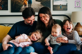 Colorado Lifestyle Portrait Photographer - Boulder party of five 6 month session