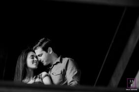 Couple Photography for Santa Catarina - Lifestyle Portrait contains: contrast, black, white, embrace, love, composition