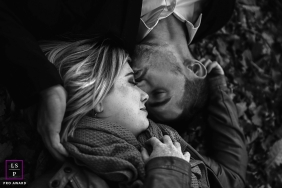 Couple Photographer in Ain   Lifestyle Image contains: love, black, white, faces, tight, upside down