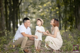 Couple with Boy Portraits in Malacca Malaysia | Lifestyle Photography Session: Forest Family Portraits