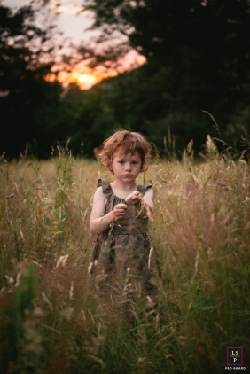 Auvergne-Rhone-Alpes lifestyle photography with kids | France family portraits | Slowly into the sunset