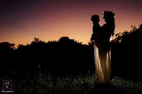 Key WestMaternity portrait at sunset plus 1 toddler - Florida family session