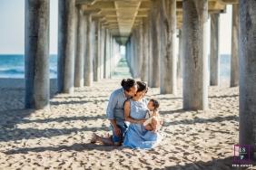 San Francisco Lifestyle Family Portrait at the beach under a pier.