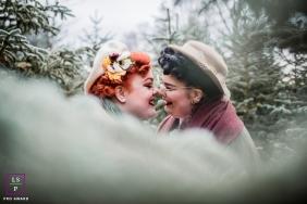 Nudge Nose aka Eskimo Kissing in Groningen, Netherlands lifestyle photography
