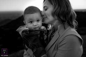 UK Mother and son captured in this black and white lifestyle portrait