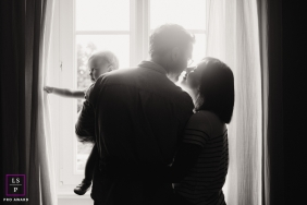 Great East indoor lifestyle family pictures from Alsace showing a minute together with love
