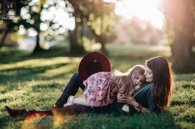 Tennessee lifestyle family portrait session at the park in Nashville with mother and daughter
