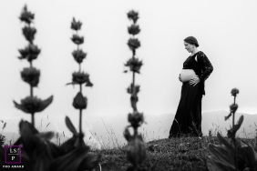 A Bourgogne-Franche-Comte lifestyle maternity image in France as a flower portrait