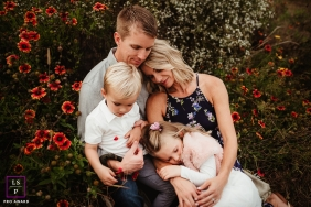 Raleigh family snuggles during this North Carolina lifestyle portrait session