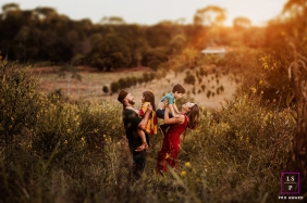 Brasilia Federal District lifestyle outdoor family sunset shoot - A place to call your own, family farm where the mother grew up and bringing that contact to her children is priceless