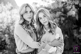 Arizona nature lifestyle family portrait session with two sisters