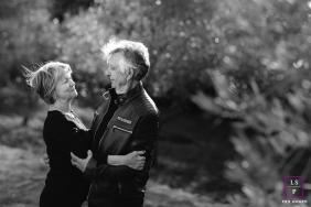 Occitanie Creative Lifestyle senior couple portrait in black and white