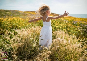 Artistic Florida Lifestyle Photography of a young child in the wild