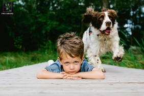 Artistic Doubs Lifestyle Photography of a boy and his best friend is a dog ​