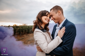Ain Creative and Cute Lifestyle Portrait image showing the look of love with some purple smoke