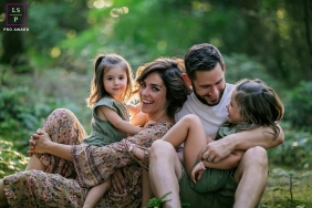 Bourgogne-Franche-Comte Creative Lifestyle Family Portrait image in the forest