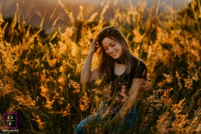Brazil Divine light lifestyle portrait in the fields with a young woman
