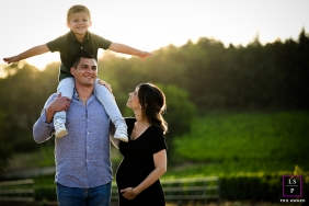 Lyon Family posing for a Lifestyle Maternity Portrait showing Soon he'll be four