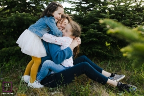 Burgundy-Franche-Comte lifestyle image showing how to hug mom tight