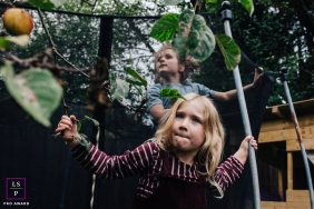 London Kids posing for a Lifestyle portrait during some Garden play time