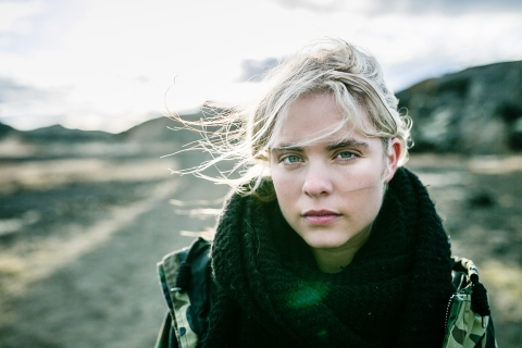Bourgogne-Franche-Comte France portrait of a teen - Strong girl in the desert of Iceland