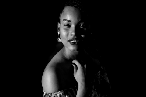 Roraima Brazil black and white portrait of a young woman. Lifestyle photo session.