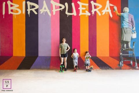 Sao Paulo Urban Art Lifestyle Portraits - Photo contains: skateboards, kids, art, creative, pose, tips, colorful, portraiture