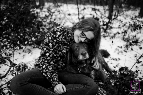Teen Portrait with a Dog in Groningen | Lifestyle Photography Session: this is a family shot with a dog