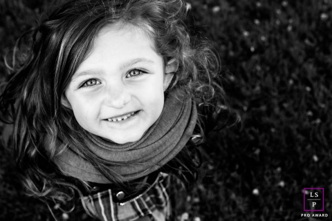 Young Child Photography in Auvergne-Rhone-Alpes | Lifestyle Image: Little girl with a persistent look