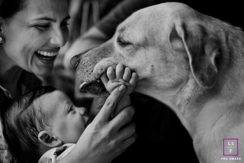 Family Dog Photographer in Mato Grosso | Lifestyle Image: the best friend of the family