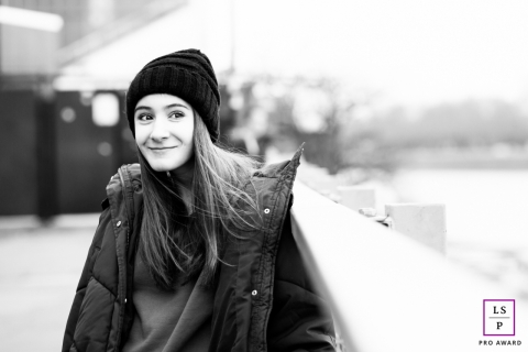 Teen Photographer in London | England Lifestyle Image: Senior with Cheeky smile