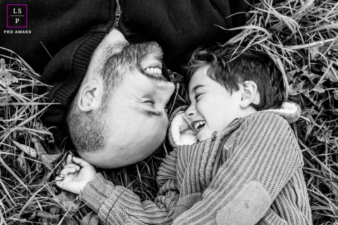 Family Photographer in Bourgogne-Franche-Comte | France Lifestyle Image: Complicity between a dad and his boy