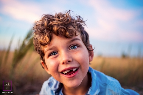 5 year old boy stares into the camera | Boulder, Colorado lifestyle photographer